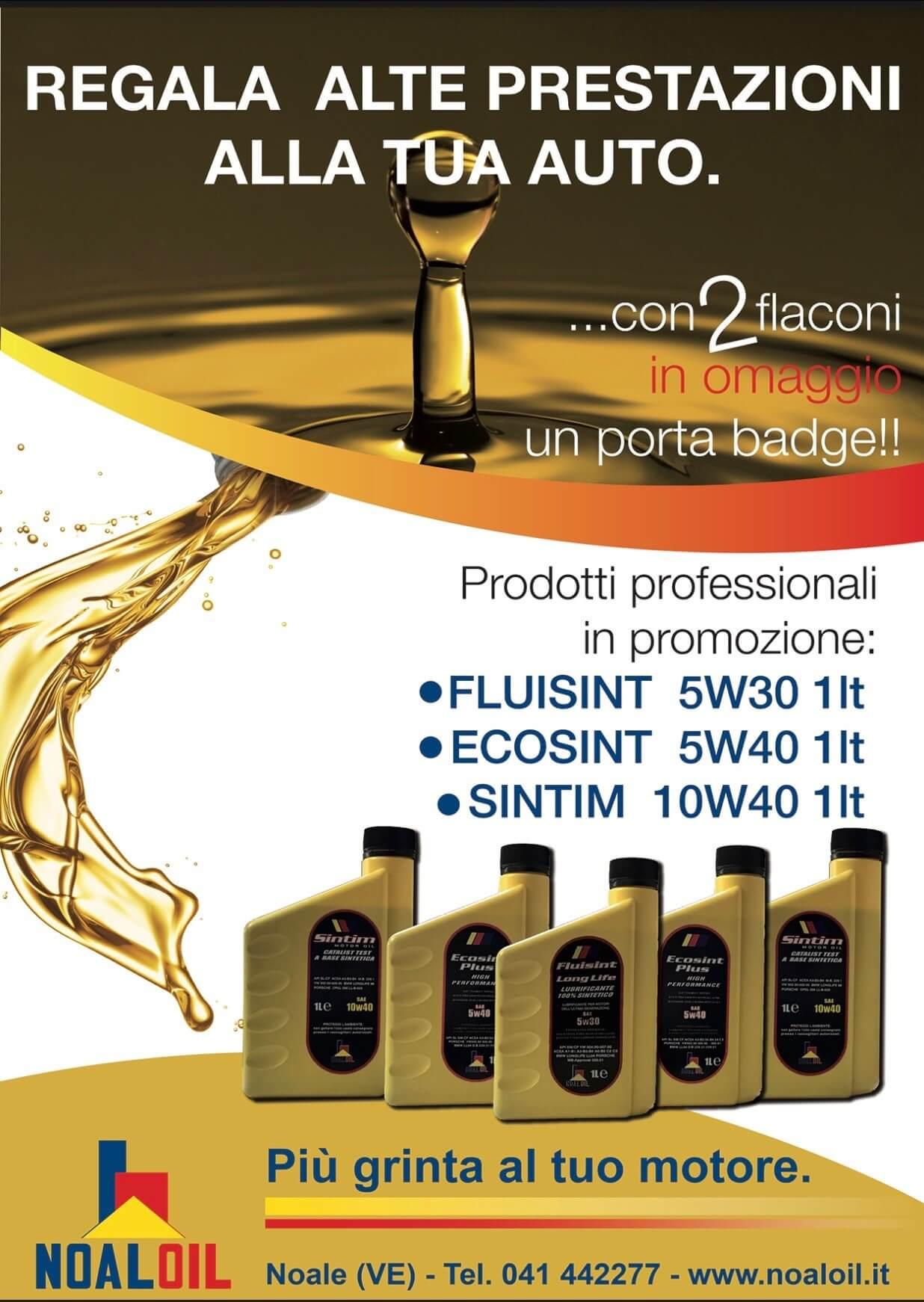 promozione lubrificanti NOALOIL